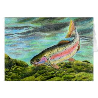 Children's Winning Artwork: rainbow trout Greeting Card