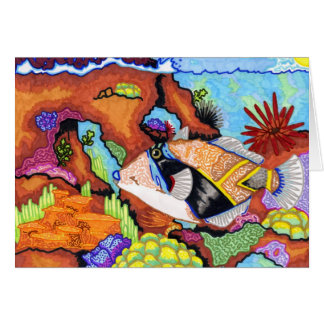 Children's Winning Artwork: triggerfish Greeting Card