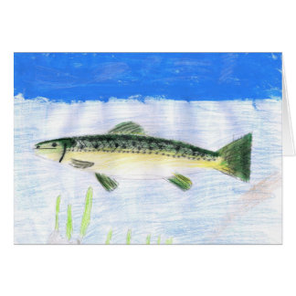 Children's Winning Artwork: trout Greeting Cards