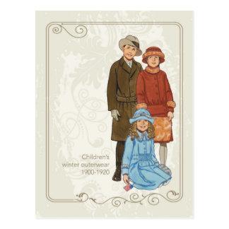 Children's Winter Wear Postcard