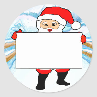 Childrens Xmas Party Blank Name Tags Round Sticker