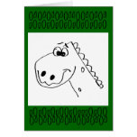 Childs 3rd Birthday Dinosaur (colour me) Cards
