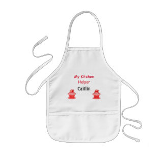 Child's apron with cupcakes and can to personalize