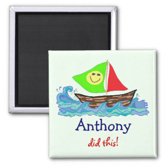 "Child's Artwork Personalized ""Show Off"" Magnet"