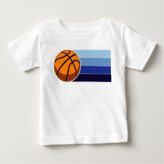 Child's Basketball blue lines Baby T-Shirt