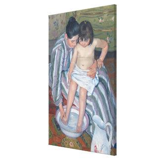 Child's bath, 1893 (oil on canvas) canvas print