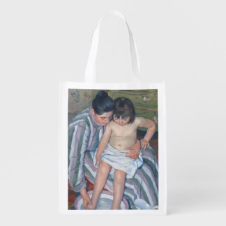 Child's bath, 1893 (oil on canvas) reusable grocery bag