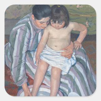 Child's bath, 1893 (oil on canvas) square sticker