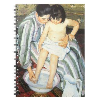 Child's Bath by Mary Cassatt Vintage Impressionism Notebooks