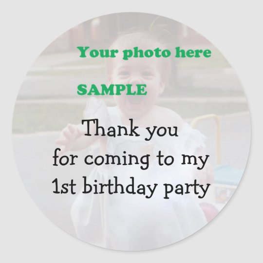 Child's Birthday Party Thank you Classic Round Sticker