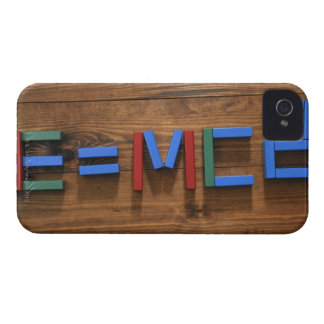 Child's building blocks arranged to show E=mc2 Case-Mate iPhone 4 Cases