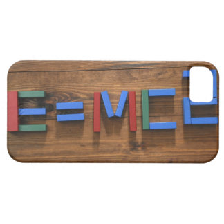 Child's building blocks arranged to show E=mc2 iPhone 5 Cases