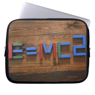 Child's building blocks arranged to show E=mc2 Laptop Sleeve