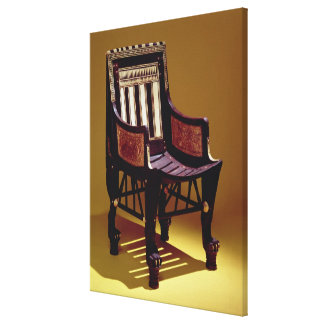 Child's chair, from the Tomb of Tutankhamun Canvas Print