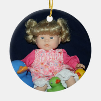 Childs Doll and Ducks Ornament