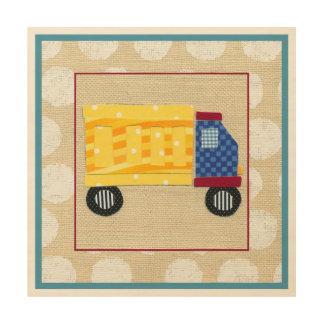 Child's Dump Truck by Chariklia Zarris Wood Wall Art