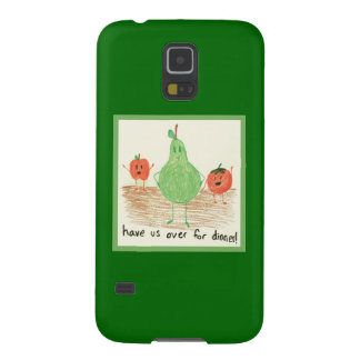 Child's Food Art, Green Galaxy S5 Cases