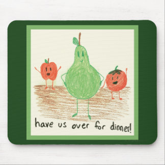 Child's Food Art, Green Mouse Pads