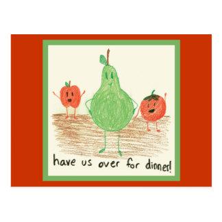Child's Food Art Postcard