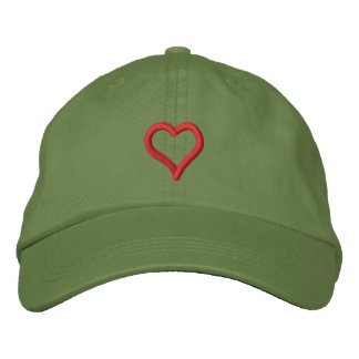 Childs Heart Embroidered Baseball Caps