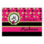 Child's Monogram Ladybug Thank You Card