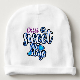 (Child's Name) Sweet for Days Baby Beanie