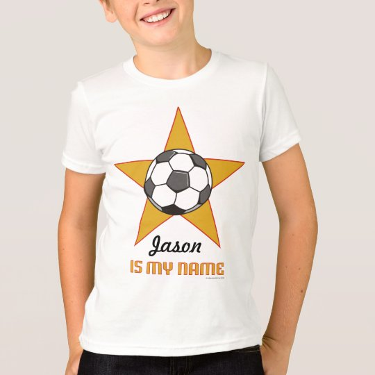 Child's Personalised Soccer Star T-shirt