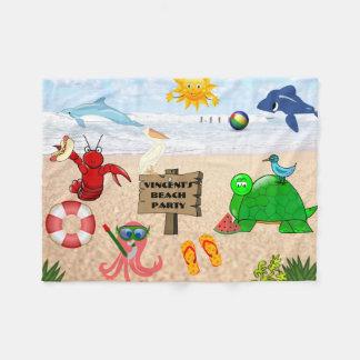 Child's Personalized Beach Fleece Blanket