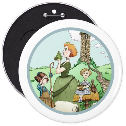 """Child's Play """"Fairy Tale Gals"""" Button"""