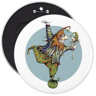 "Child's Play ""Fairy Tale Jester"" Button"
