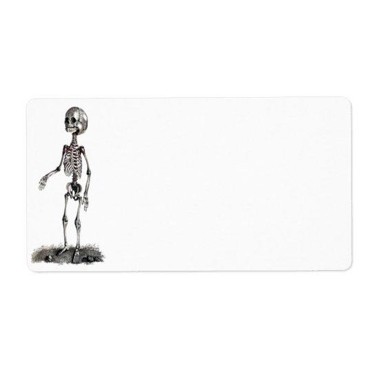 Child's Skeleton Avery Label Shipping Label