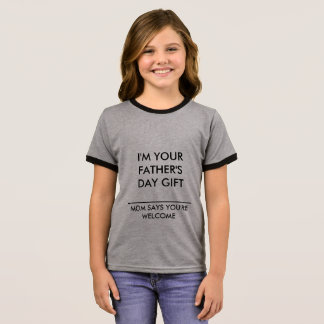 CHILDS T-SHIRT FATHERS DAY MESSAGE BY ZAZZ_IT