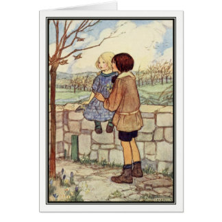 Child's Talk in April by Florence Harrison Card