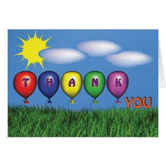 Child's Thank  You Note Stationery Note Card