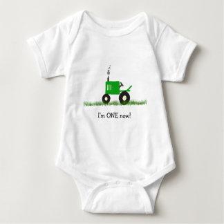 Child's Tractor T-Shirt: Customize Age Baby Bodysuit