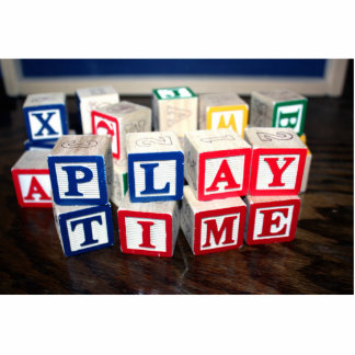 Childs Wooden Toy Blocks Photo Cutout