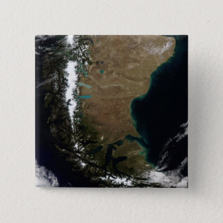 Chile and the Patagonian region of Argentina 15 Cm Square Badge
