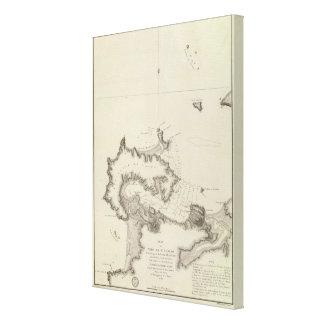 Chile Atlas Map Canvas Print