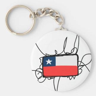 Chile Basic Round Button Key Ring