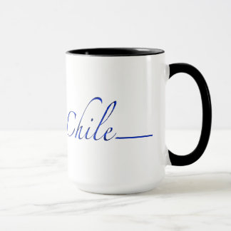 Chile (blue script) mug