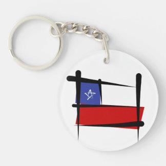 Chile Brush Flag Acrylic Key Chain