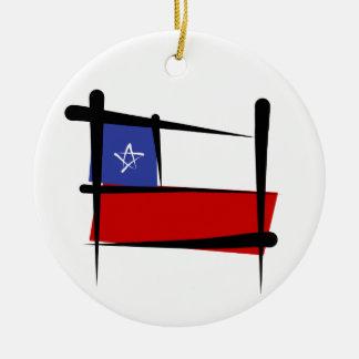 Chile Brush Flag Christmas Ornament