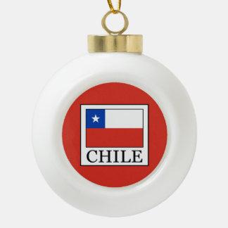 Chile Ceramic Ball Christmas Ornament