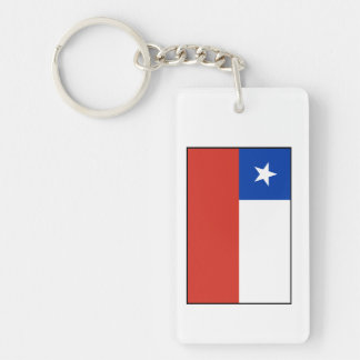 Chile – Chilean Flag Double-Sided Rectangular Acrylic Key Ring