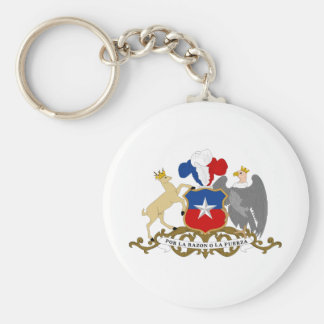 Chile Coat Of Arms Basic Round Button Key Ring