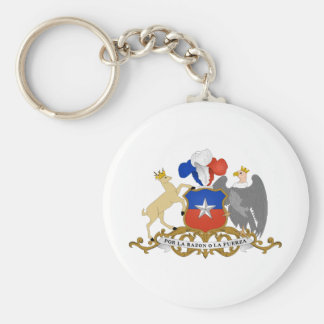 Chile Coat of arms CL Basic Round Button Key Ring