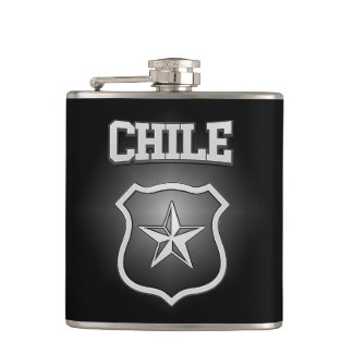 Chile Coat of Arms Hip Flask