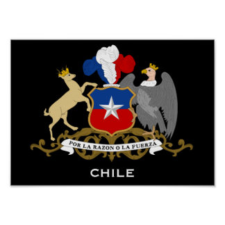Chile* Coat of Arms Poster