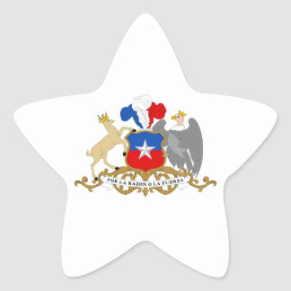 Chile Coat of Arms Star Sticker