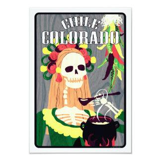 chile colorado (cool scheme) 9 cm x 13 cm invitation card